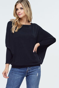 Black Dolman Sweater