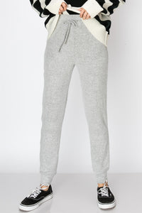 Soft Jogger Pants- Heather Gray