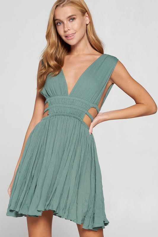 Sage Cut Out Dress