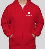 Uber Driver Hooded Sweatshirt with zipper