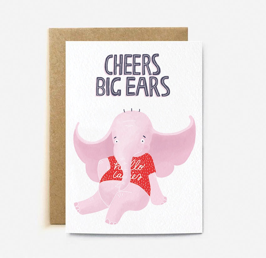 The Cardy ClubL Cheers Big Ears Card