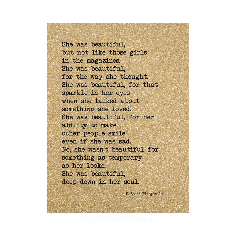 She Was Beautiful A5 Notebook UDA3