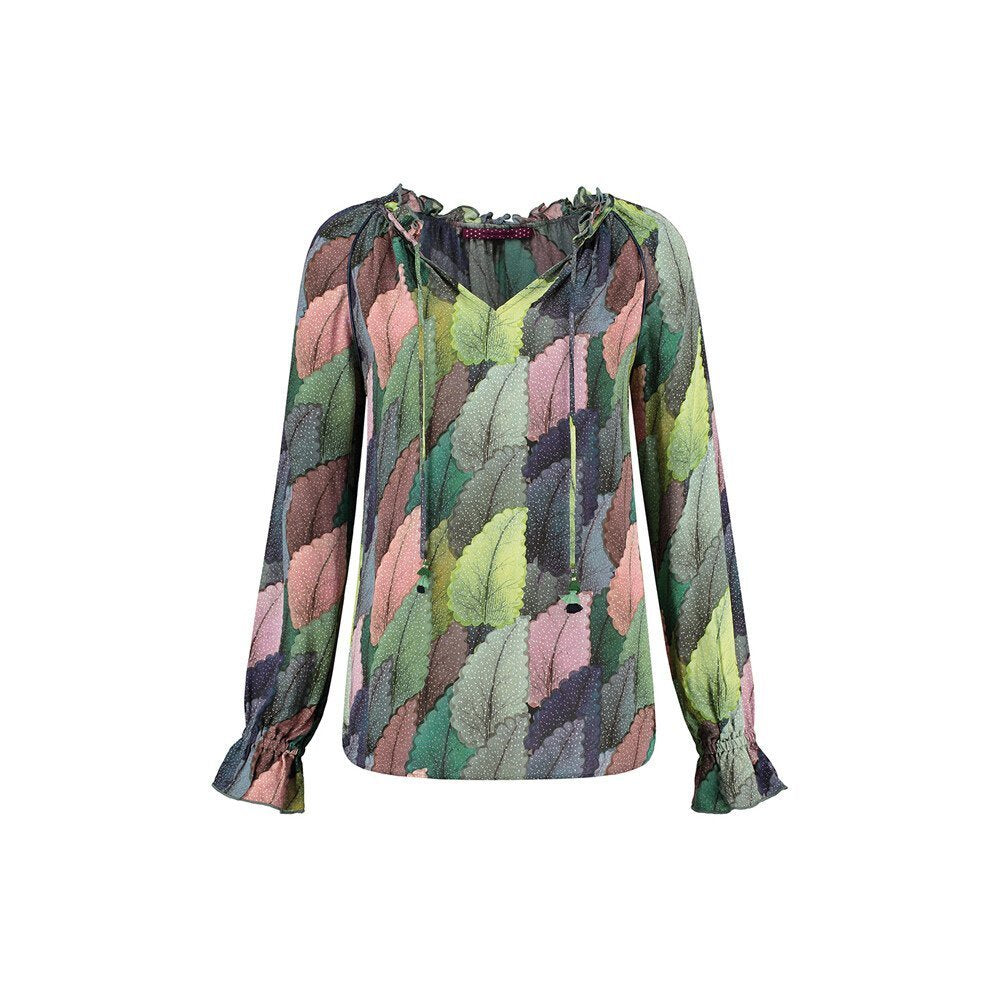 Pom Amsterdam: Dreamy Leaves Blouse