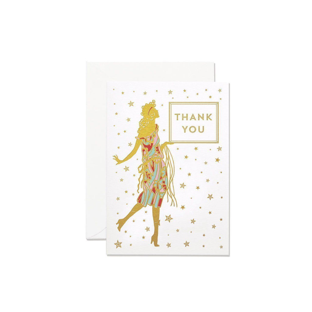 Glamourous Thank You Card