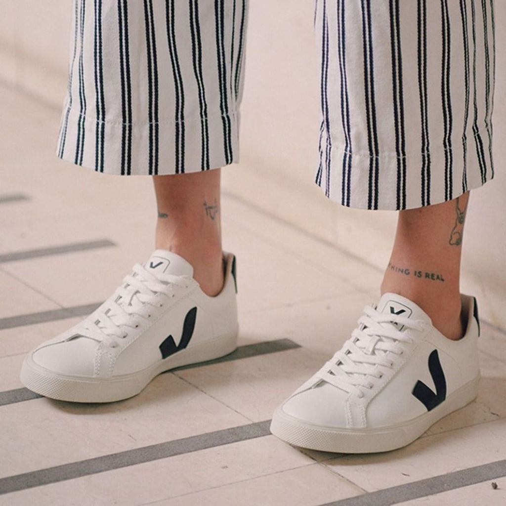 Veja Campo Chromefree Leather White Black