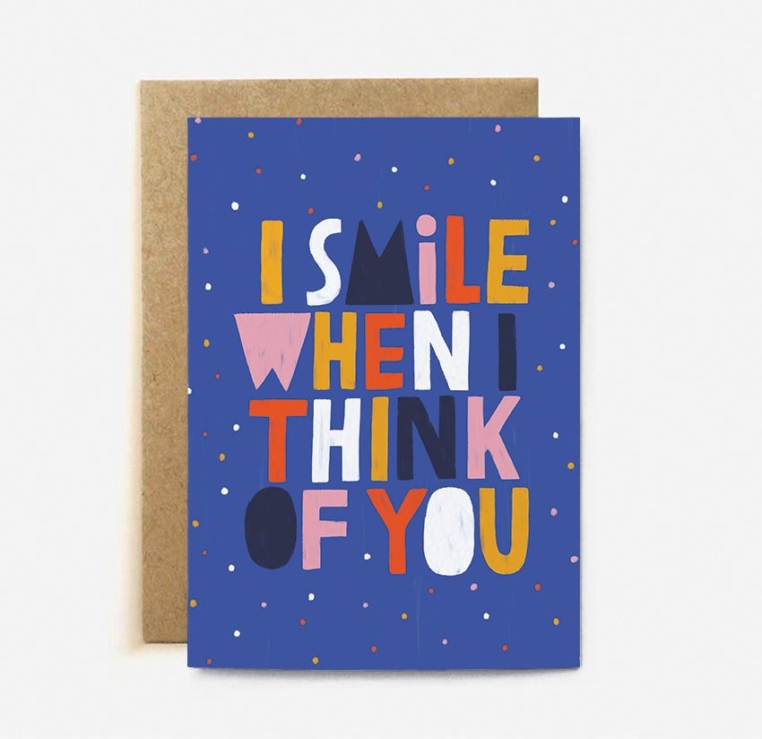 The Cardy Club: I Smile When I Think Of You Card