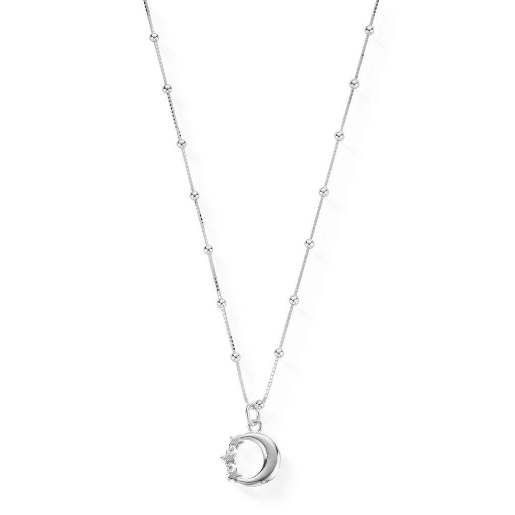 ChloBo: Bobble Chain Moon & Star Necklace Silver