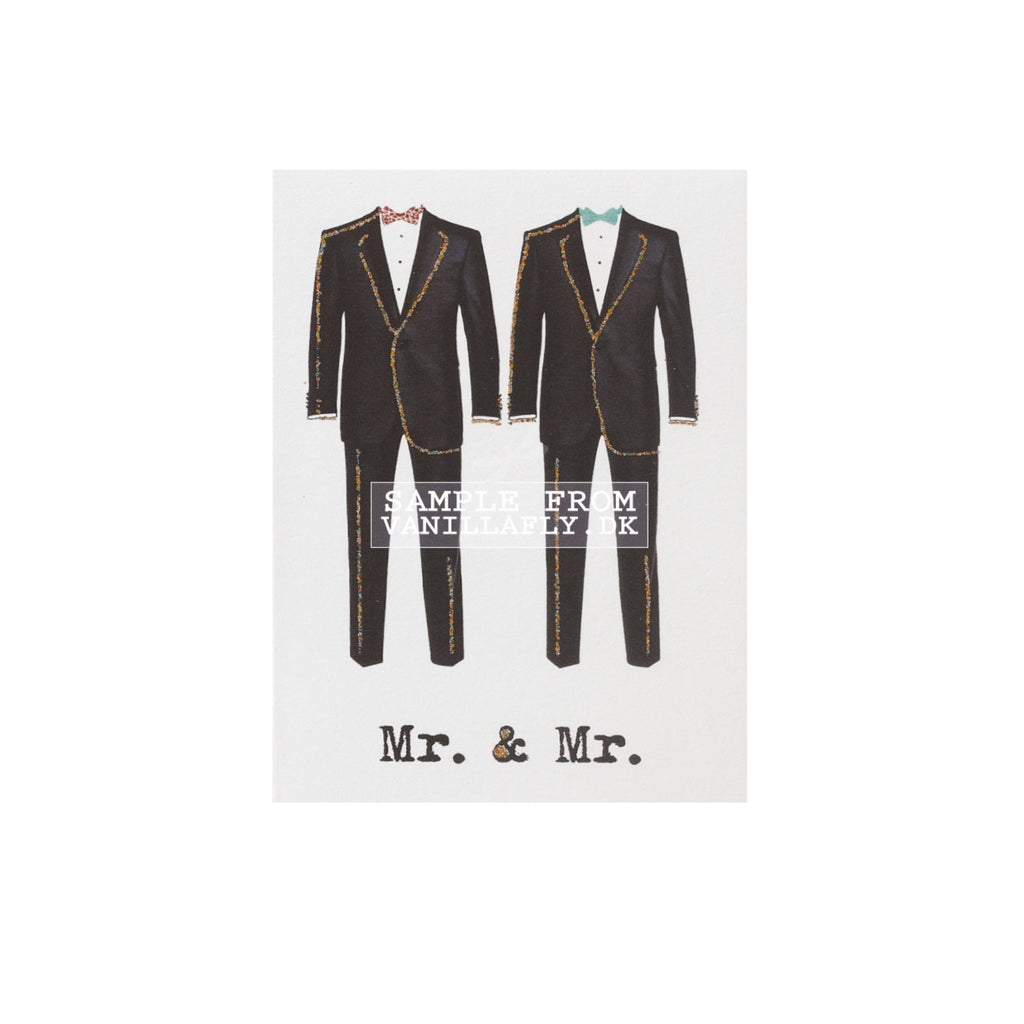 Vanilla Fly Mr & Mr Greetings Card