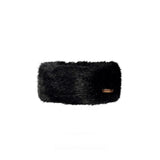 Faux Fur Headband Black