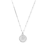 ChloBo:  Bobble Chain Moon Flower Necklace Silver