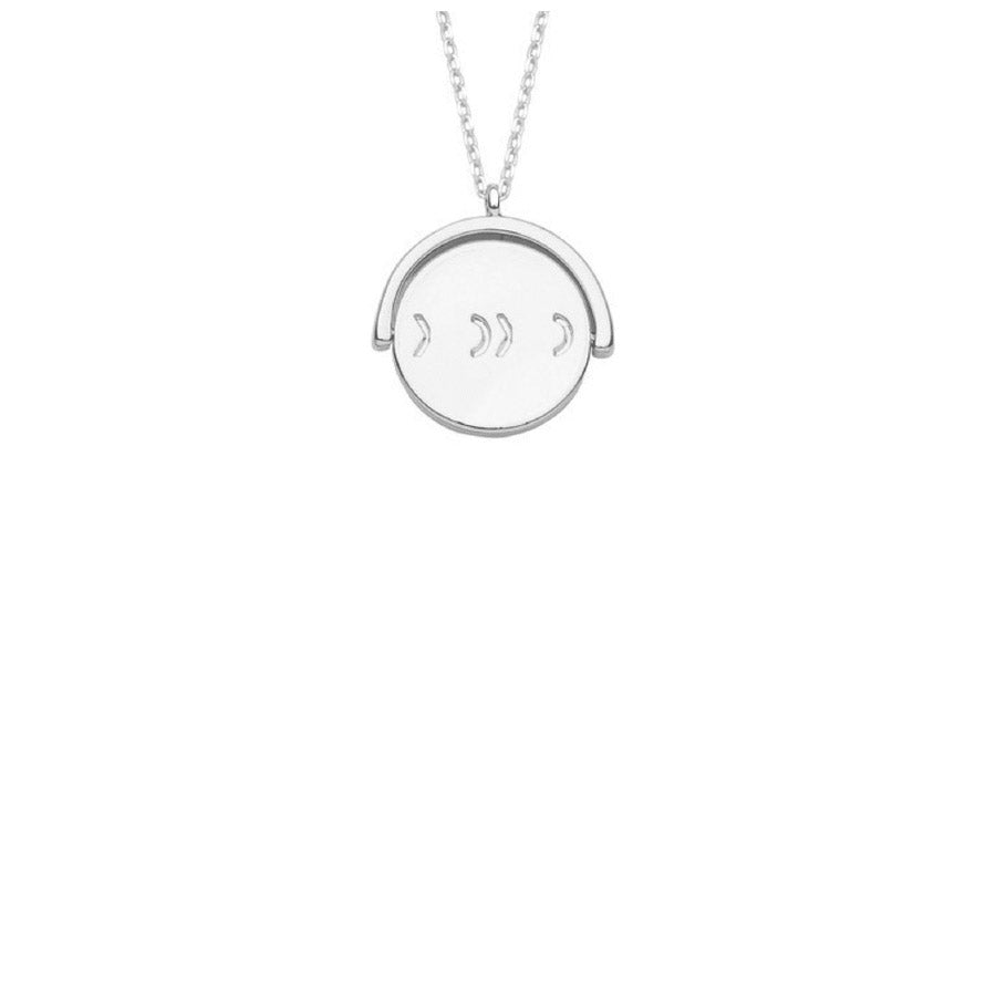 Spinning XOXO Disc Necklace
