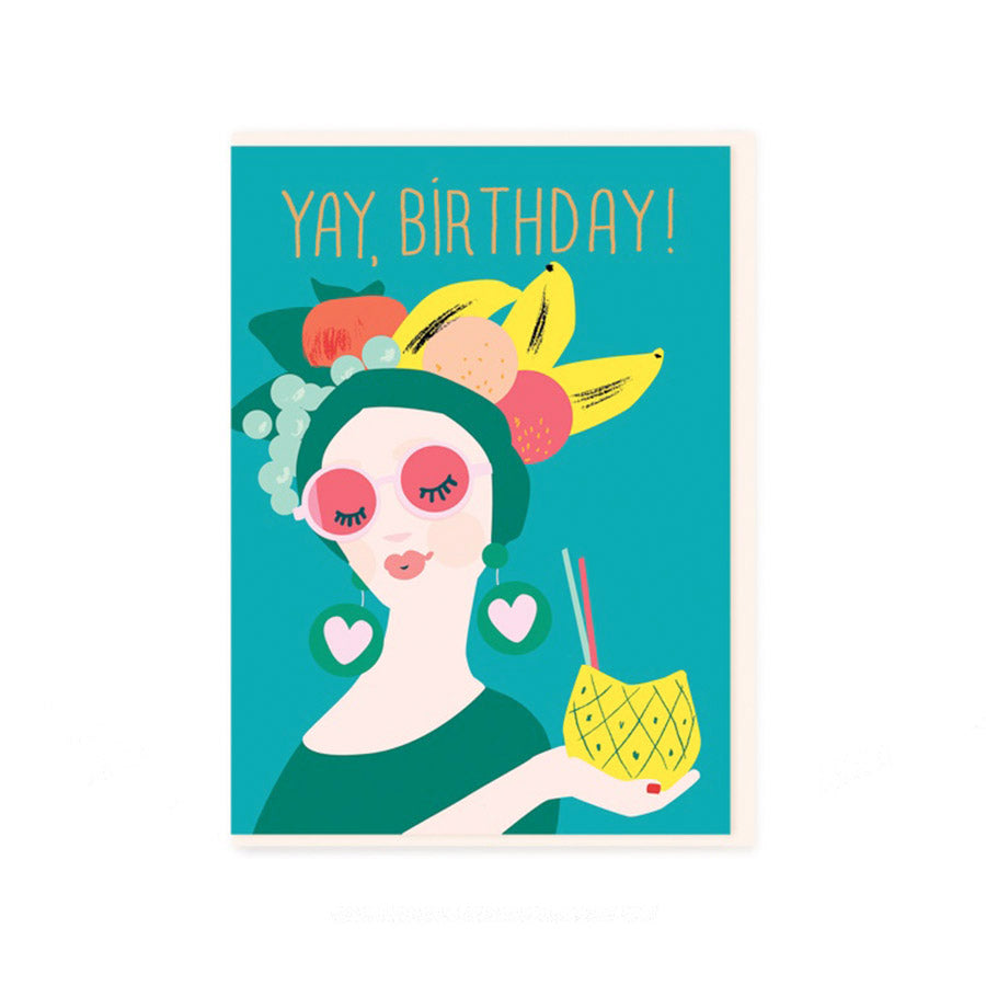 "Noi: Tropical Lady ""Yay Birthday"" card"
