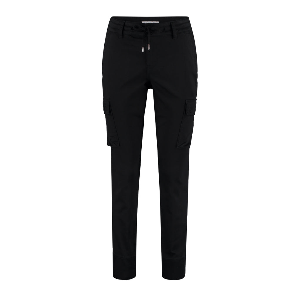 Red Button Combat Jogger Black