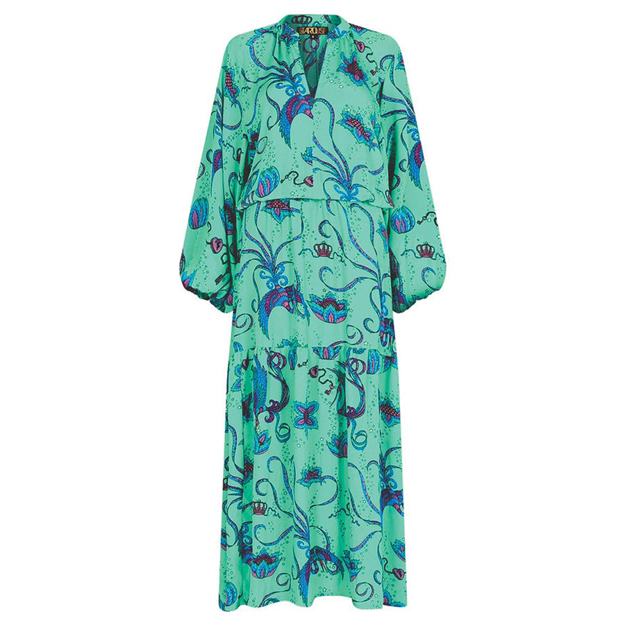 Stardust: Leo Bird Maxi Dress Emerald