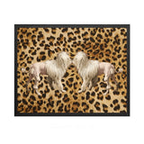 Vanilla Fly Leopard Kissing Dogs (PSC145) 20X25 Poster