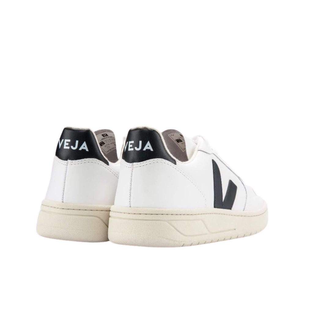 Veja V-10 Leather Extra White Black Trainers