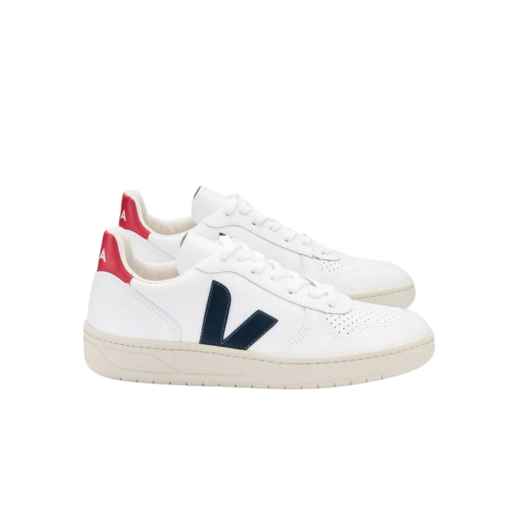 Veja V-10 Leather Extra White Nautico Pekin