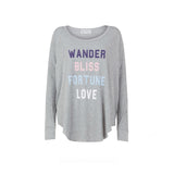 Wildfox: Fortune Love Long Sleeve T-shirt