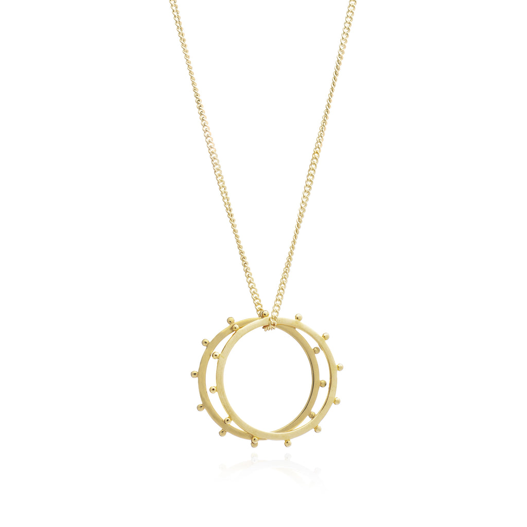Rachel Jackson: Punk Rings Necklace Gold