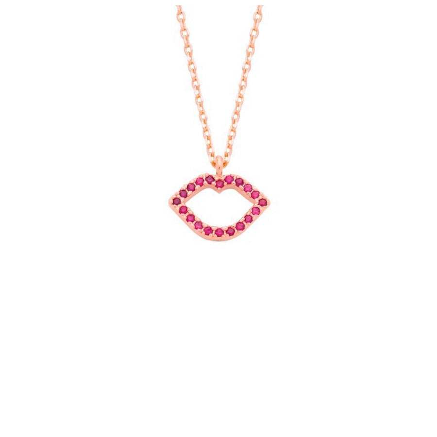 Lips Rose Gold Necklace