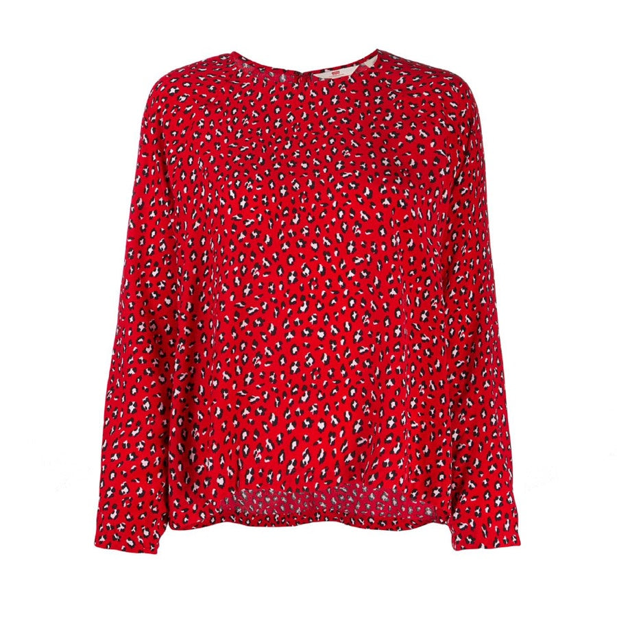 Levi's: Miranda Top Fun Leopard Brilliant Red