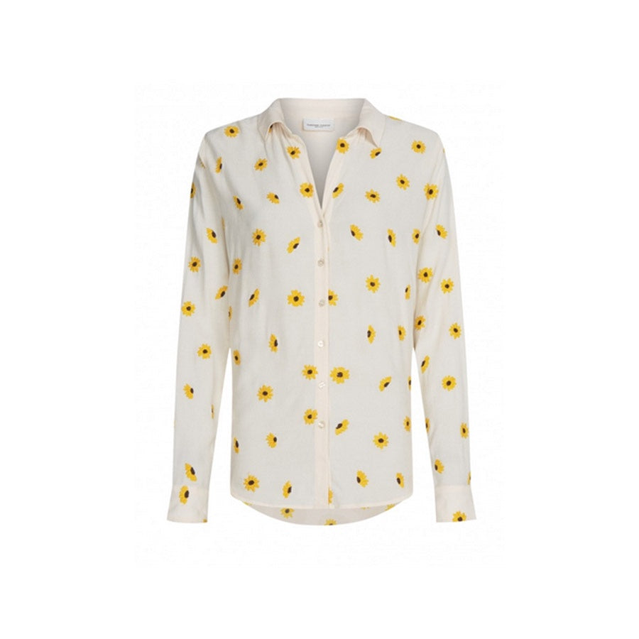 Lily Embro Blouse Off White / Sunny Flowers
