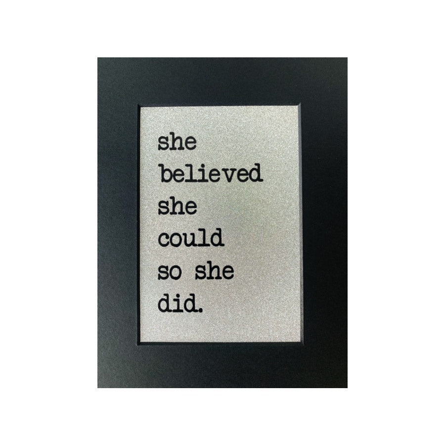 She Believed She Could A5 Print