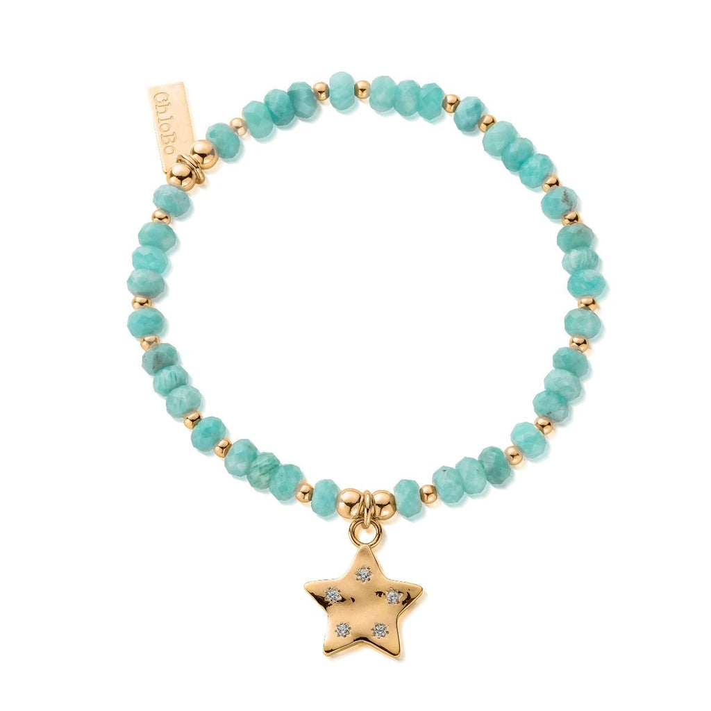 ChloBo Gold Quinary Star Bracelet