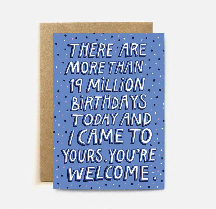 The Cardy Club: 19 Million Birthdays Card