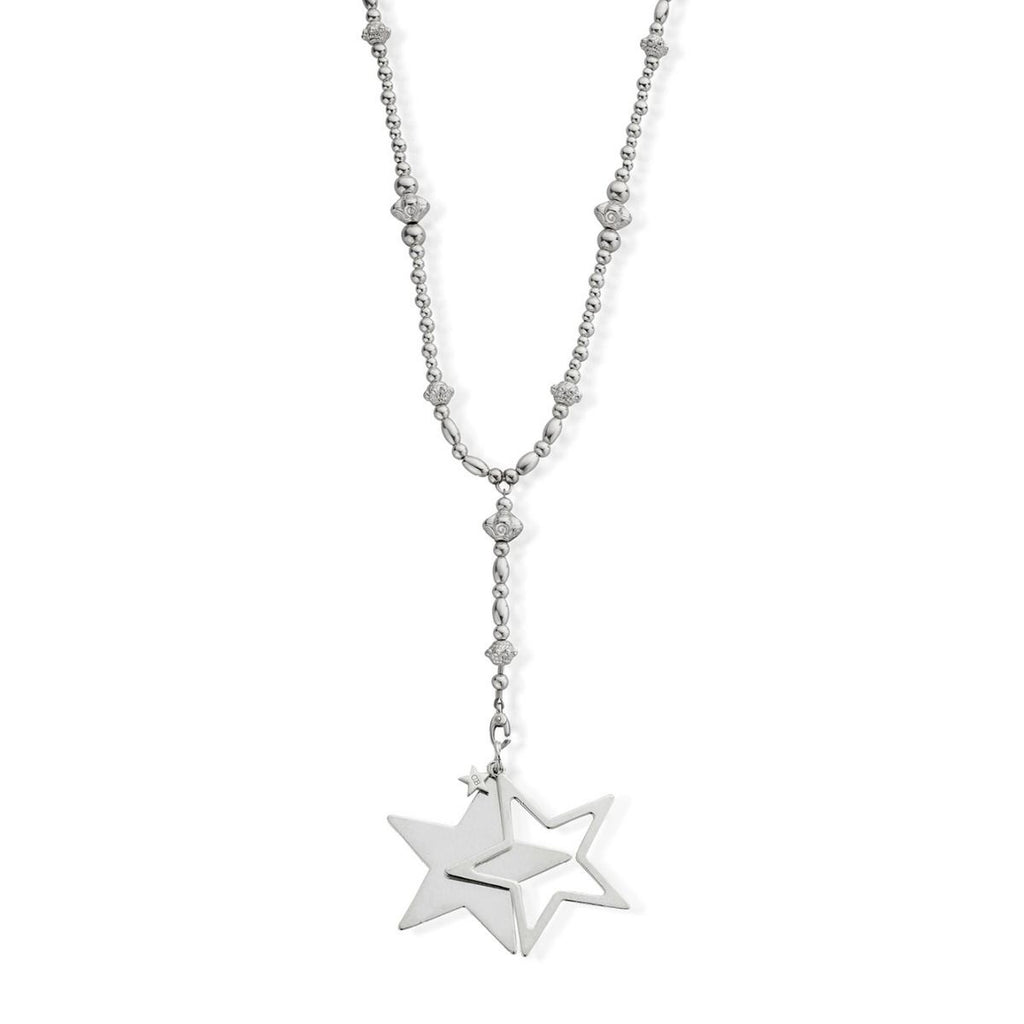 ChloBo Fearless Necklace with Extra Large Star Pendant Silver