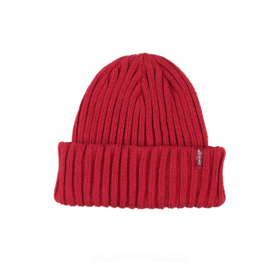 Levi's: Ribbed Beanie Red