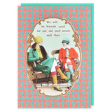 Darling Divas: Old & Senile Sparkly Card (Diva 1911)