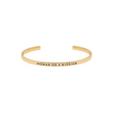 Woman on a Mission Gold Bangle