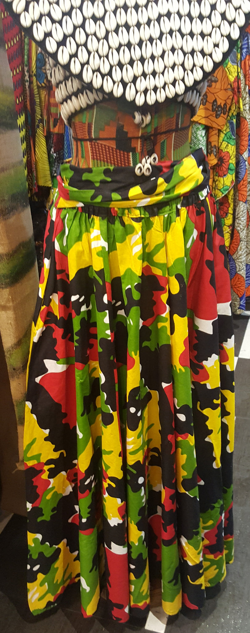 Rasta Army Skirt