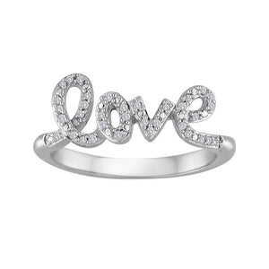 "925 Sterling Silver ""LOVE"" Letter Ring PaulaMax Personalized Jewelry 6"