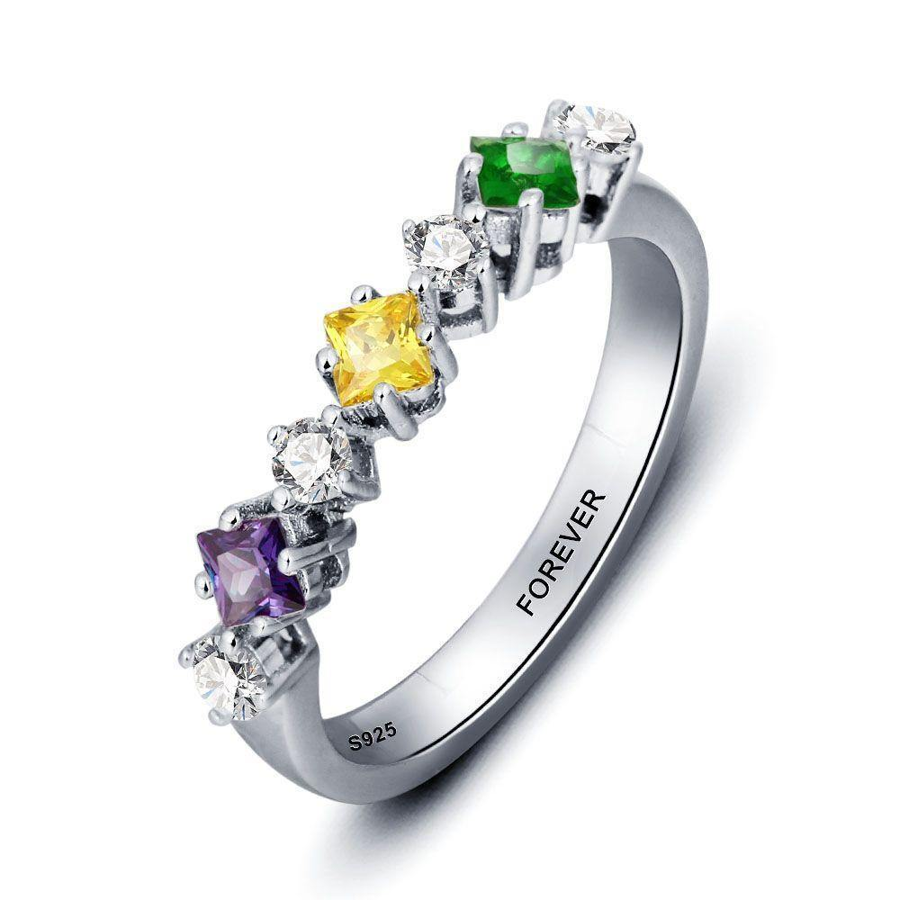 Promise Ring for Her with 7 Birthstones PaulaMax Jewelry