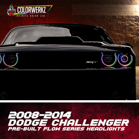 2008-2014 Dodge Challenger Pre-Built Flow Series Headlights