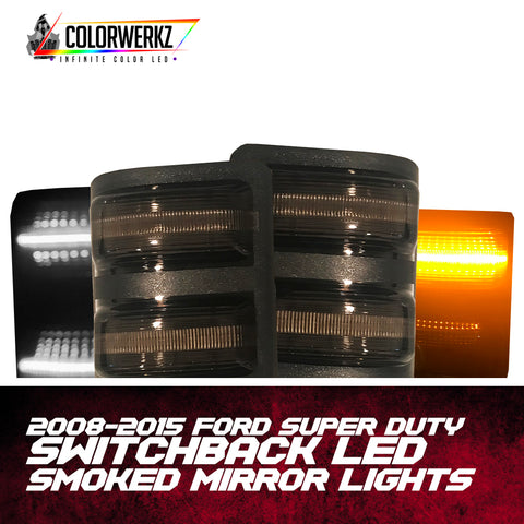 2008-2015 Ford Super Duty | Switchback LED Smoked Mirror Lights