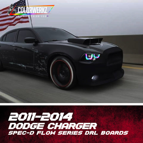 2011-2014 Dodge Charger Spec-D Flow Series DRL Boards