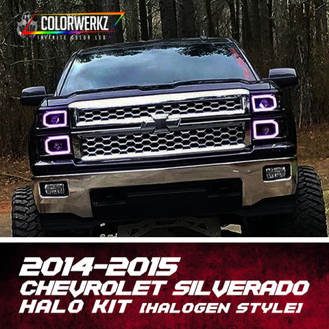 2014-2015 Chevrolet Silverado (Halogen) Halo Kit