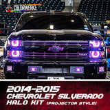 2014-2015 Chevrolet Silverado (Projector) Halo Kit