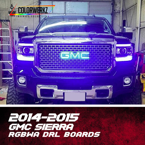 2014-2015 GMC Sierra RGBWA DRL Boards