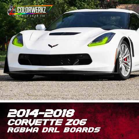 2014-2018 Chevrolet Corvette Z06 RGBWA DRL Boards