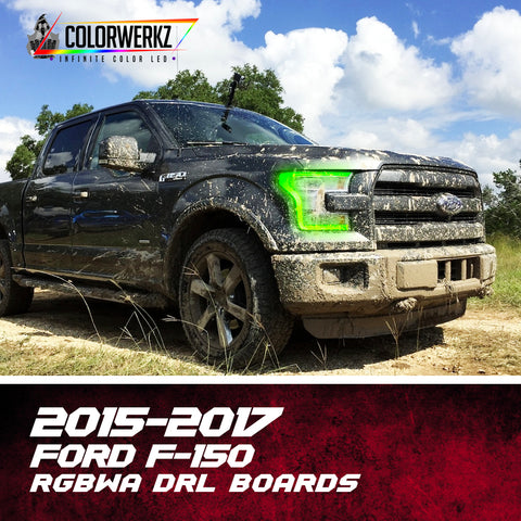 2015-2017 Ford F-150 RGBWA DRL Boards