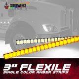 "3"" Flexile Single Color Strips (Amber OR White)"