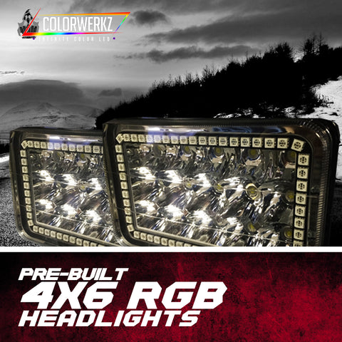 4x6 RGB Pre-Built Headlights