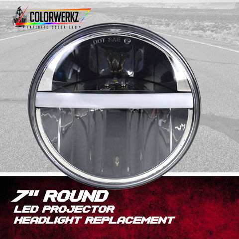 "7"" Round LED Projector Headlight Replacement"