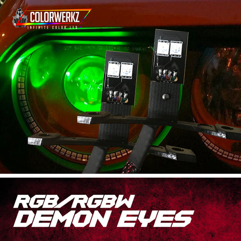 RGB or RGBW Demon Eyes