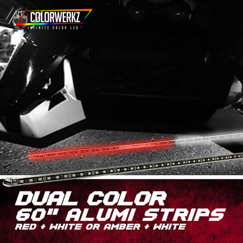 "60"" Dual Color Alumi Strips (Red + White or Amber + White)"