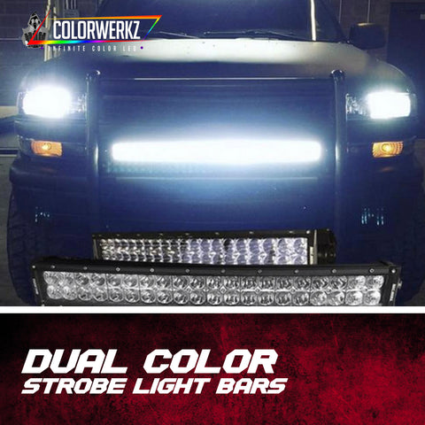 Dual Color Strobe Light Bars